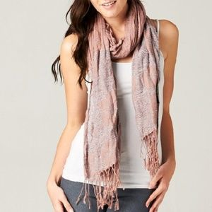 Lovestitch Printed Violet Crinkle Scarf